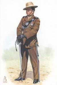 Captain Of The Royal Gurkha Rifles Dress Uniform Military Postcard