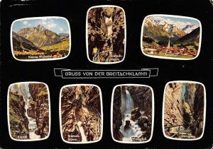 Gruss von der Breitachklamm, Wasserfall Kanzel Zwingsteg Oberstdorf Walsertal