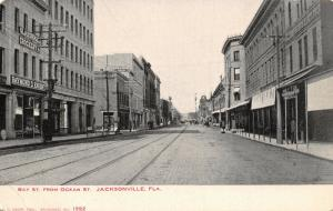 Jacksonville Florida~Bay Street @ Ocean~Raymond D Knight Crockery~1905 B&W PC