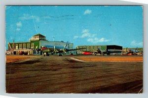 Sydney NS-Nova Scotia Canada, Sydney Airport, Chrome c1960 Postcard