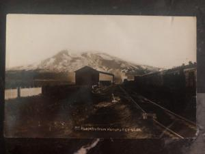 Mint New Zealand RPPC Real Picture Postcard Ruapehu Trail rails