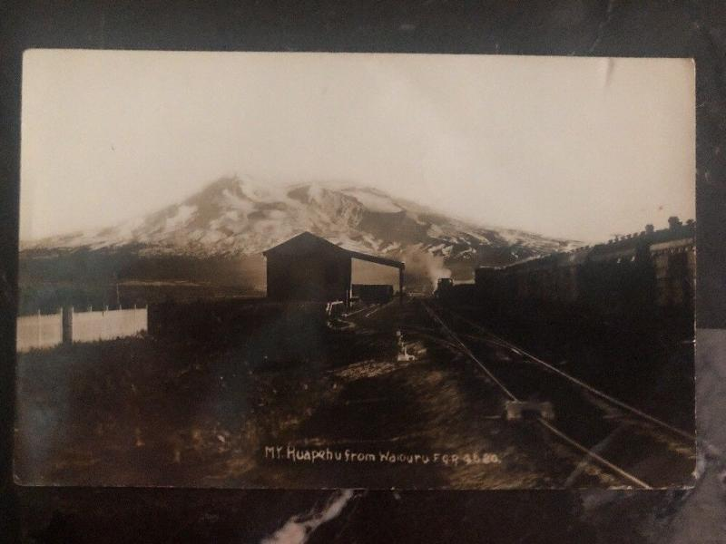 Mint New Zealand RPPC Real Picture Postcard Ruapehu Trail rails