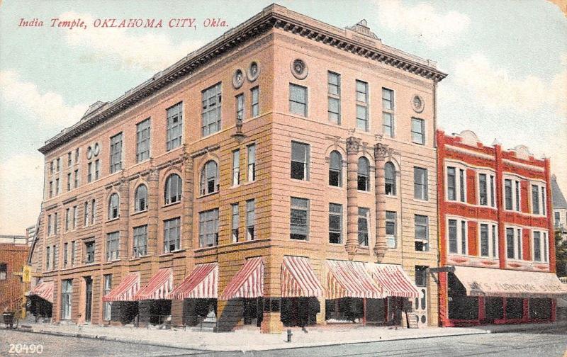 Oklahoma City~Levyu0027s Furniture Store~Masonic India Temple C1908