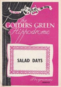 Salad Days Noel Coward Golders Green Musical Theatre Programme