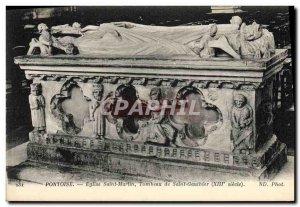 Postcard Old Death Pontoise Saint Martin Church Tomb of Saint Gauthier