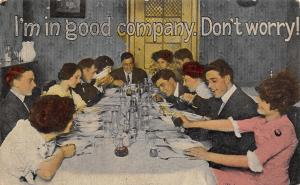 Comic Pun~I'm in Good Company~Don't Worry! Young People~Bad Table Manners~1913