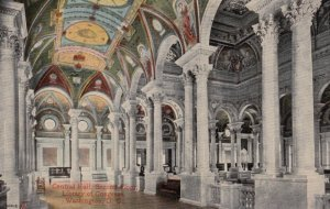 WASHINGTON DC, 1900-10s; Central Hall, Second Floor, Library of Congress