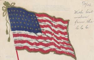American Flag with gold detail, 1906