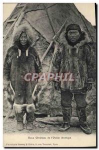 Old Postcard Two Christians & # 39Ocean of Arctic Polar