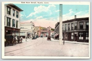 Mystic Connecticut~East Main Street~Downtown Shopping~Bridge Distance~1920s