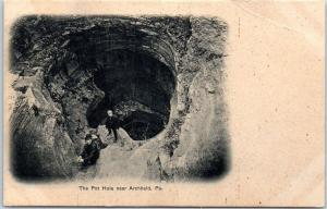 Archbald, Pennsylvania Postcard The Pot Hole State Park Cave View 1900s UNUSED