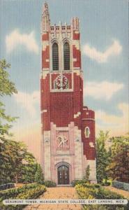 Michigan East Lansing Beaumont Tower Michigan State College