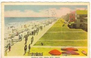 Broadwalk Scene, Virginia Beach, Virginia, PU-1941