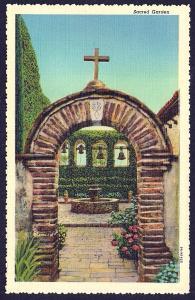 Sacred Garden San Juan Capistrano California unused c1939