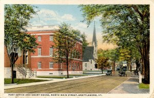 VT - Brattleboro. Post Office and Courthouse, North Main Street