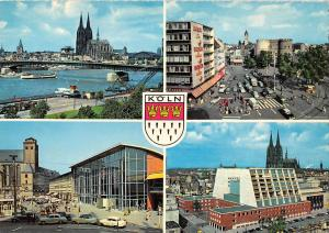 GG14254 Koeln am Rhein Dom Bruecke Cathedral River Bridge Auto Cars Cattedrale