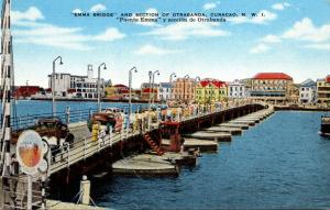 Curacao Emma Bridge and Section Of Otrabanda