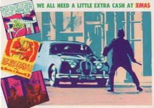 Car Robbery Burglary Cash For Christmas Violence Comic Postcard