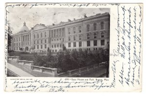 State House and Park, Boston, Massachusetts, Used 1905 Flag Cancel