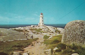 PEGGY'S COVE, Nova Scotia, Canada, 40-60s; LIGHTHOUSE