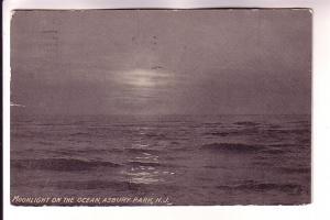 Moonlight on the Ocean, Asbury Park,  New Jersey