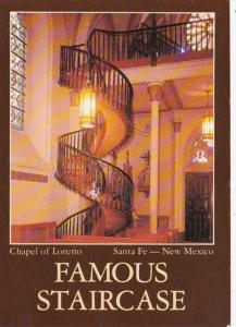 New Mexico Santa Fe Chapel Of Loretto Interior Showing Famous Staircase