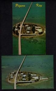 FL Lot 2 PIGEON KEY FLORIDA Postcards Seven Mile Bridge