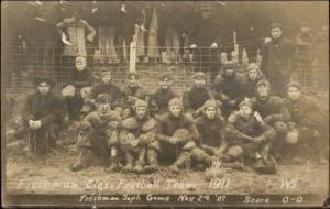 Pullman WA Cancel Football Team GREAT MESSAGE! 1907 Real Photo Postcard spg
