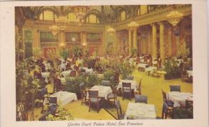 California San Francisco Palace Hotel Garden cOurt 1951