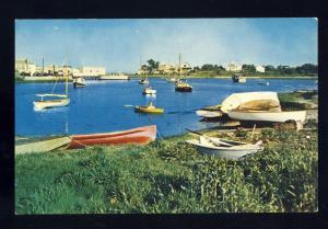 Hyannis, Mass/MA Postcard, Harbor & Park, Boats/Cape Cod