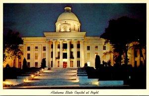 Alabama Montgomery State Capitol At Night