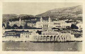 monaco, MONTE CARLO, Panorama (1930s) RPPC