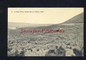 SNAKE RIVER IDAHO 1910 SAGE PLAIN COVERED WAGON ANTIQUE VINTAGE POSTCARD