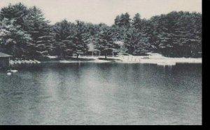 New Hampshire Meredith St Johns Seminary Camp From Lake Winnipesaukee Albertype