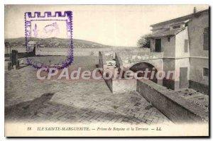 Postcard Old Sainte Marguerite Island Jail Bazaine and the Terrace