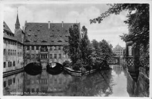 Nurnberg Heil Geist Spital The Holy Ghost Hospital Garden Postcard