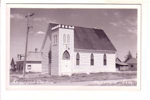Real Photo, Anglican Church, Milestone, Saskatchewan