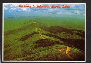 OK Talihina Oklahoma to Mena Arkansas AR Talimena Scenic Drive Postcard