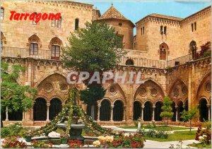 Modern Postcard Costa Dorada Tarragona Cathedral Cloister Garden in