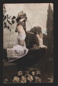 116639 Nude Girl ELF NYMPH in Boat Vintage PHOTO NPG 1907