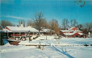 Lahaska Pennsylvania~Snow-Covered Village Green at Peddler's Village 1950