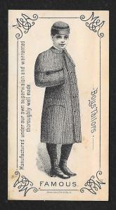 VICTORIAN TRADE CARD Famous Boy's Clothiers