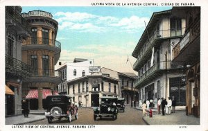 Latest View of Central Ave., Panama City, Panama, Early Postcard, Unused
