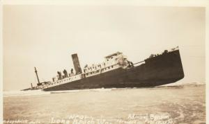 RP; LONG BEACH, Washington, 1930s Shipwreck of Admiral Benson