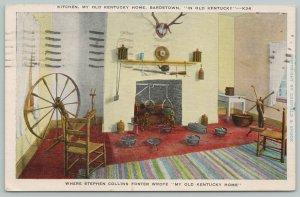 Bardstown Kentucky~Stephen Foster Old Kentucky Home~Kitchen~1920s Postcard