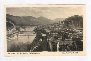 RP  Salzburg mit der festung Hohensalzburg, Austria, PU-1951
