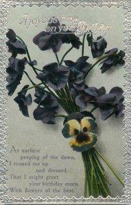 Postcard Greetings birthday flowers bouquet