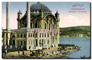 Postcard Old Constantinople Mosque D & # 39Ortakeuy Turkey