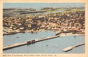 Summerside Prince Edward Island PEI~Birdseye Panorama~RCAF Photo~1950 Postcard