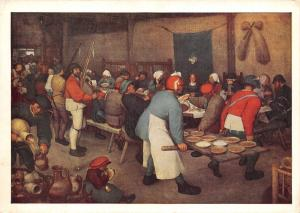 Art Postcard, Peasant Wedding by Pieter Bruegel X55